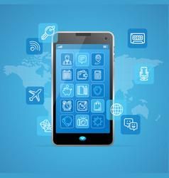 web app ui ux concept mobail phone vector image