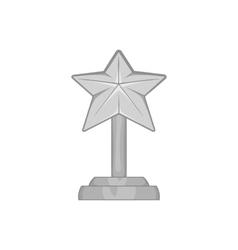 Award star icon black monochrome style vector