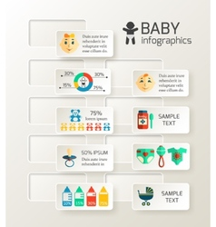 Baby child infographic vector image