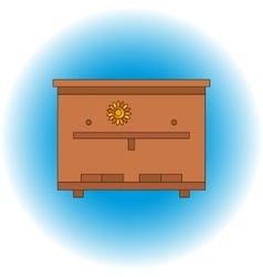 bee beehive outline vector image