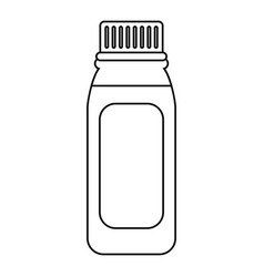 Bottle medicine healhy care icon thin line vector