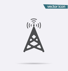 broadcast icon isolated podcast modern fl vector image