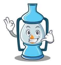 Call me lantern character cartoon style vector