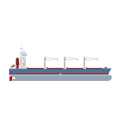 cargo ship isolated on white background vector image