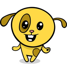 cartoon kawaii puppy vector image