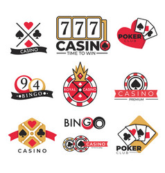 casino club gambling poker and bingo isolated vector image