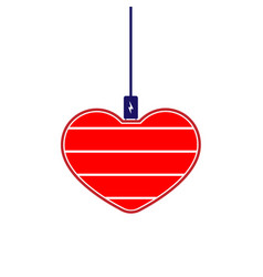 Charge your red heart symbol vector