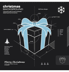 Christmas gift box infographic design vector