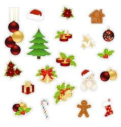 christmas set big vector image