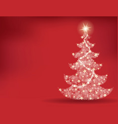 christmas tree topic background 2 vector image