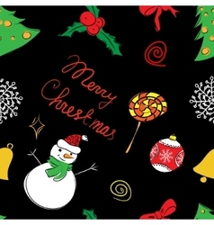 Color pattern of Christmas vector image