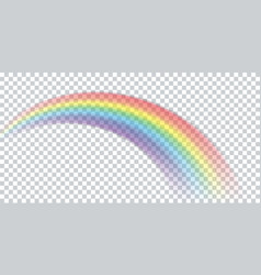 colorful realistic multicolored rainbow natural vector image