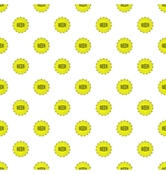 Cover beer pattern cartoon style vector