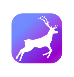deer flat icon with long shadow pictogram vector image