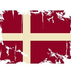 Denmark grunge flag vector