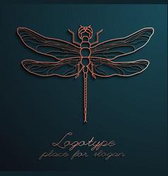 dragonfly logo design eps10 vector image