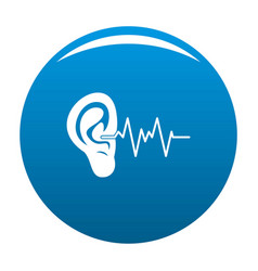 ear icon blue vector image