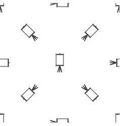 easel pattern seamless black vector image