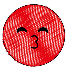 Emoticon kawaii face icon vector