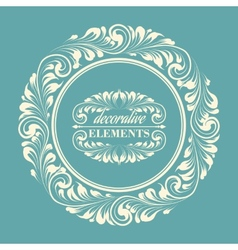 floral frame with decorative elements vector image