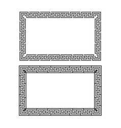 greek decorative frame vector image