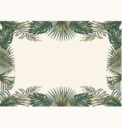 green tropical border white background a4 layout vector image