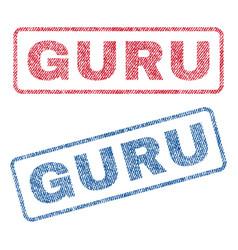 Guru textile stamps vector