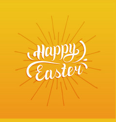 Happy easter type greeting card religious holiday vector