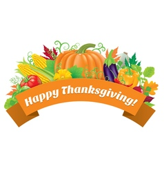 Happy Thanksgiving greetings vector image