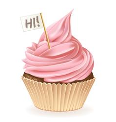 Hi Cupcake vector