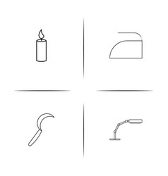 home appliances and equipment simple linear icon vector image