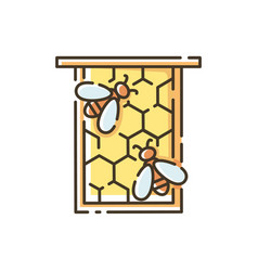 Honeycomb frame rgb color icon vector