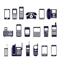 Icons phones vector image