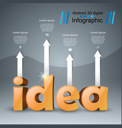 Idea business infographics origami style vector