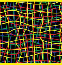 intricate colored wires abstract seamless pattern vector image