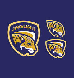 jaguar mascot logo design vector image