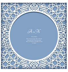 lace frame with cutout paper pattern vector image