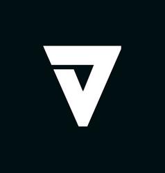 logo letter v wing vector image