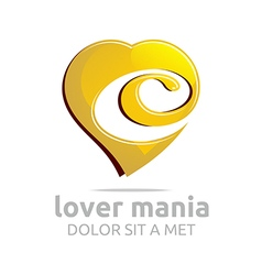 Lover fall in love valentine wedding symbol vector
