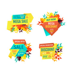 Mega sale exclusive products vector