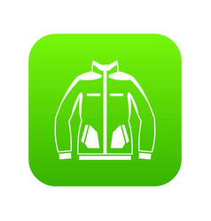 men winter jacket icon digital green vector image