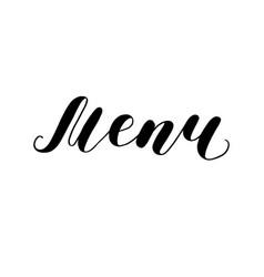 Menu lettering vector