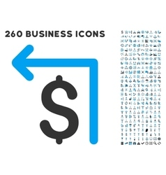 Moneyback Icon with Flat Set vector image