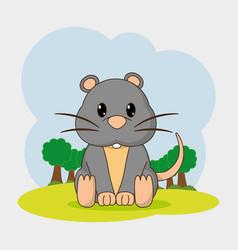 Mouse cartoon design vector