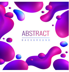 neon drops abstract background vector image