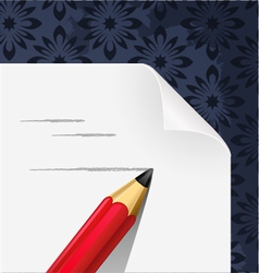 paper blank with pencil hand draw vector image