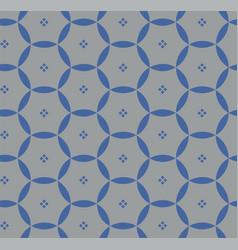 pattern with blue circles vector image