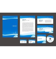 Professional corporate identity airplane flight vector