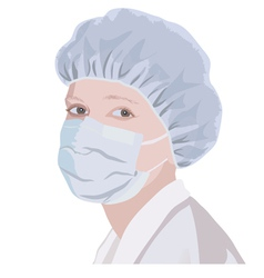 Realistic portrait of a nurse or doctor vector image