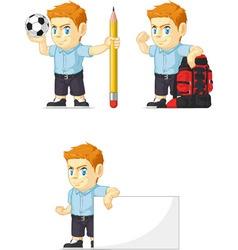 Red Head Boy Customizable Mascot 14 vector image